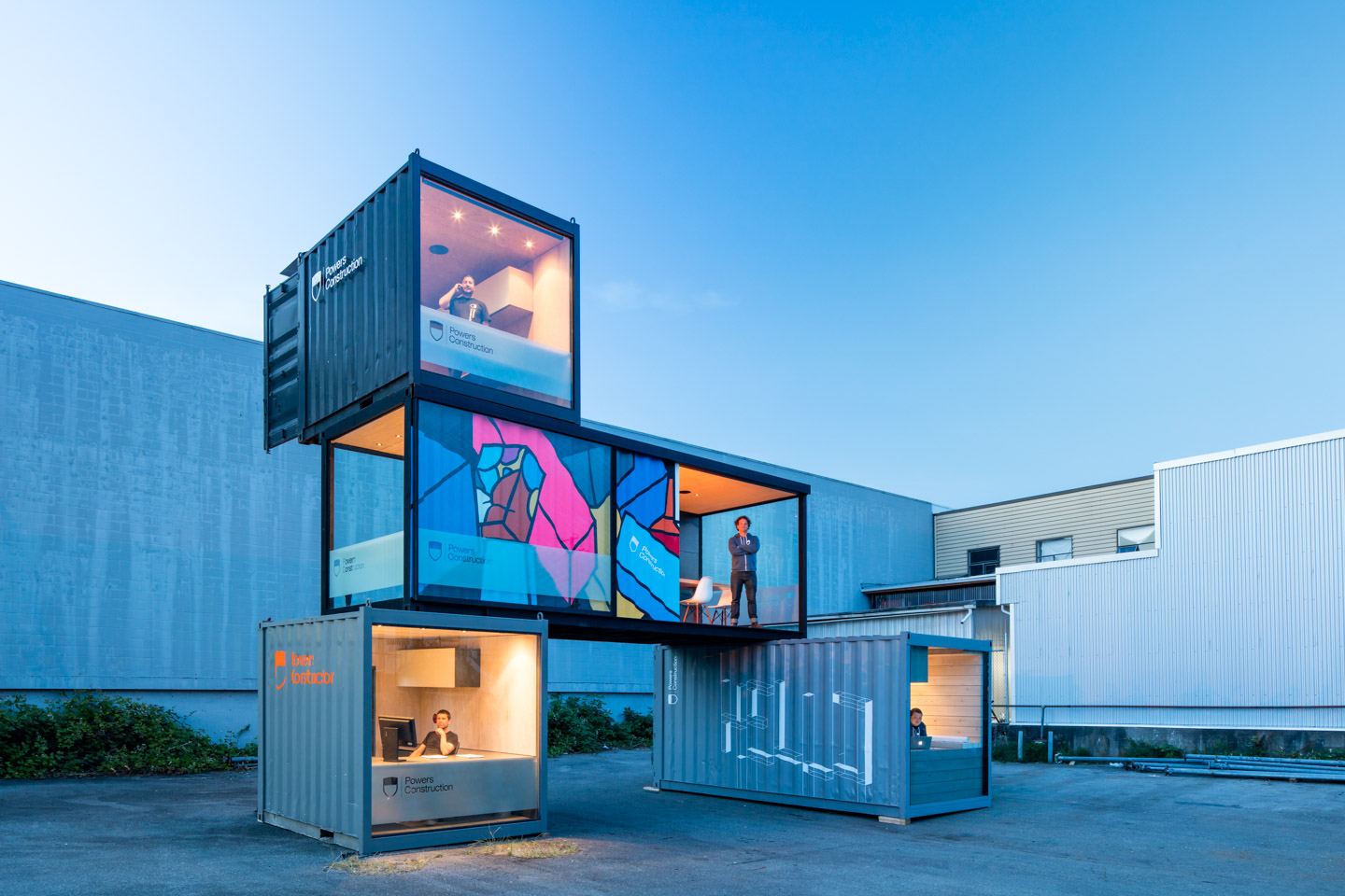 mobile office made from shipping containers