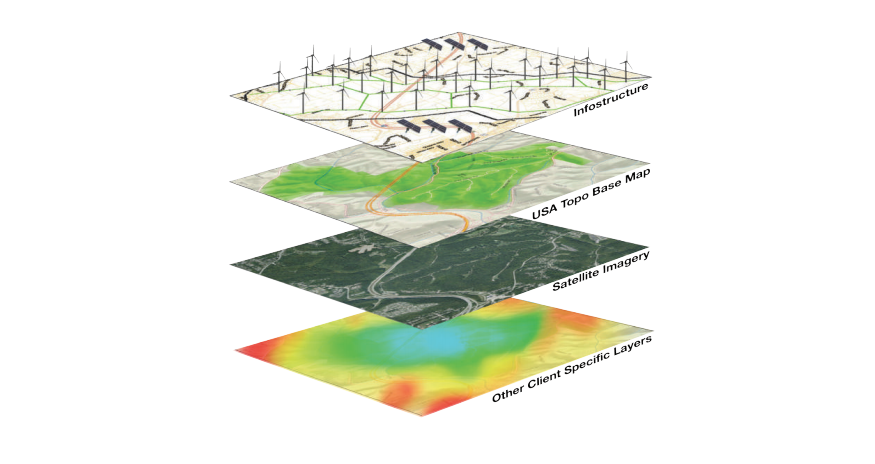 gisAPMS geospatial visualization allows for real-time project mapping