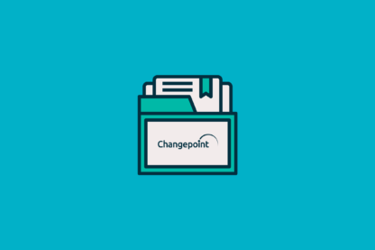 Graphics of Standardize Your Portfolio Attributes to Better Align Strategy and Execution folder graphic with the changepoint logo