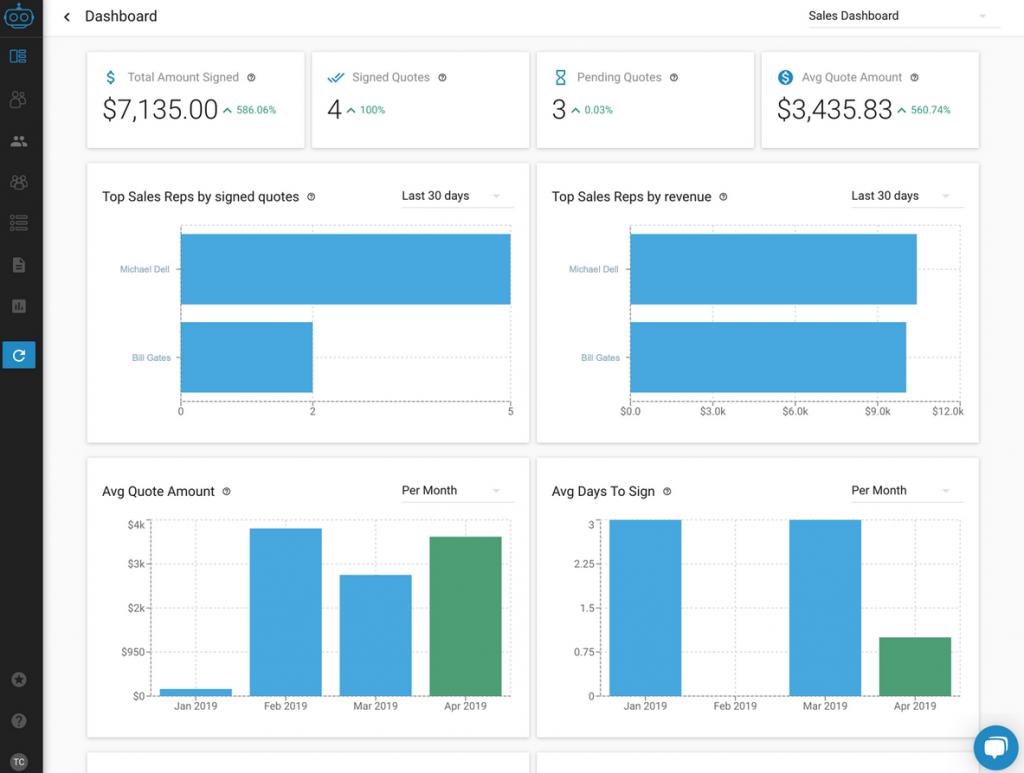 Armatic Sales QTC CPQ Software Vendors Screenshot