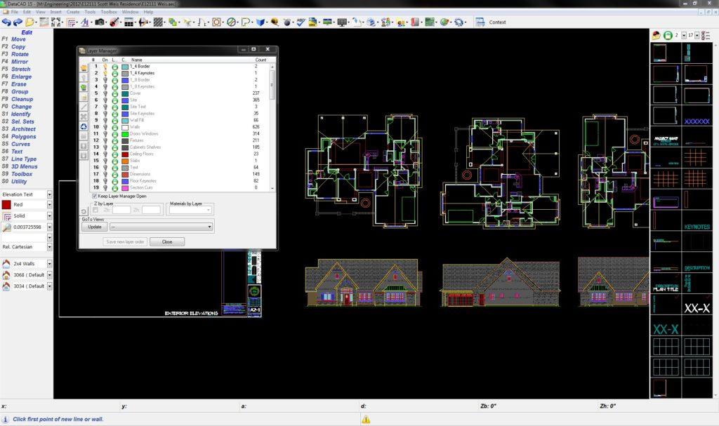 DataCAD Building Information Modeling (BIM) Software