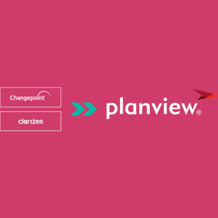 planview logo incorporating changepoint and clarizen logos