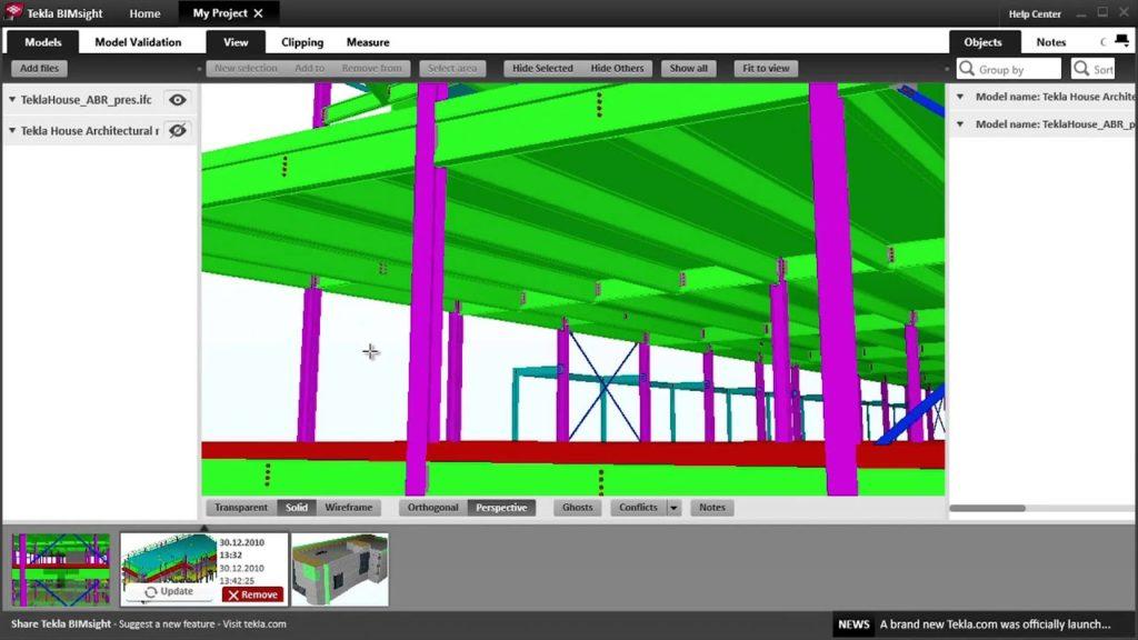 Tekla BIMsight Building Information Modeling (BIM) Software
