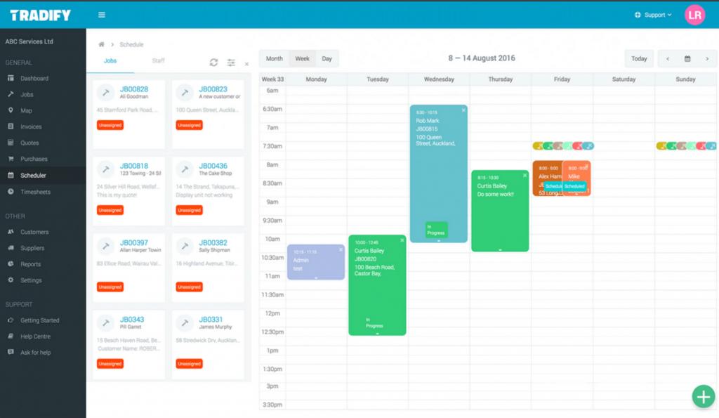 Tradify Project Cost Software Screenshots