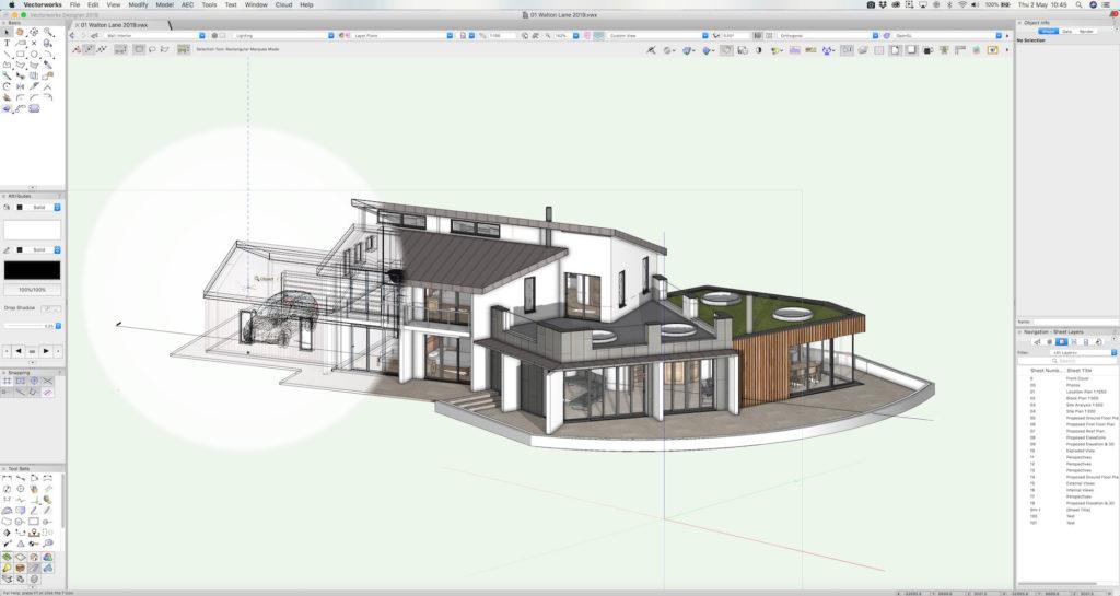 Vectorworks Architect Building Information Modeling (BIM) Software