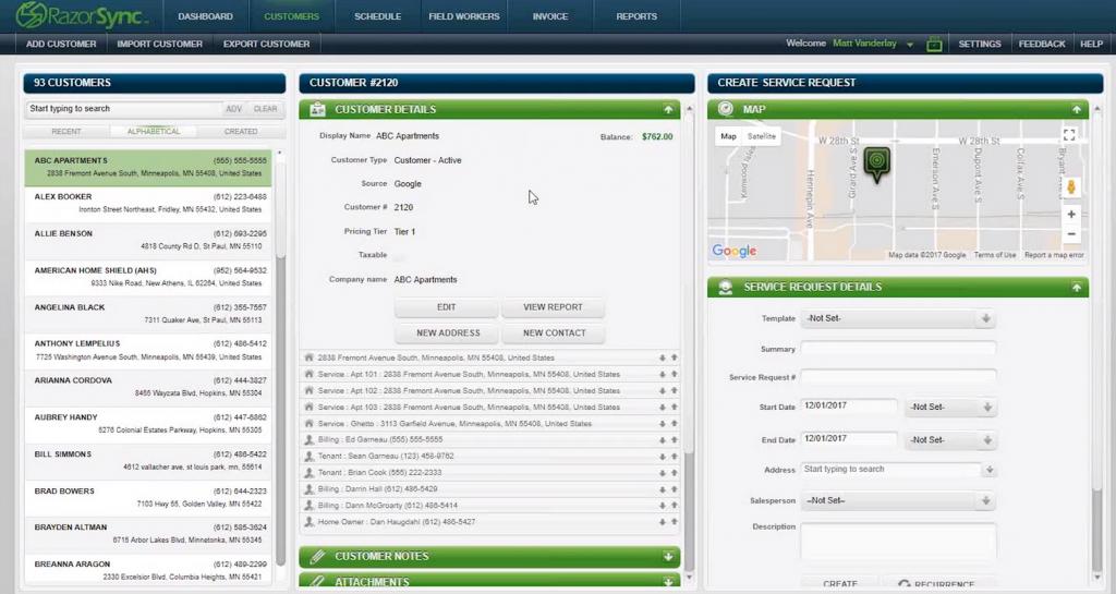 RazorSync HVAC Software For Invoicing, Bidding & Scheduling Screenshot