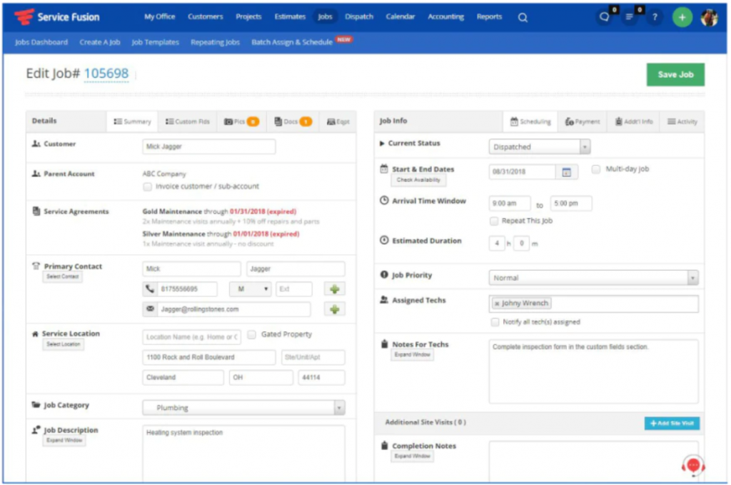 Service Fusion HVAC Software For Invoicing, Bidding & Scheduling Screenshot