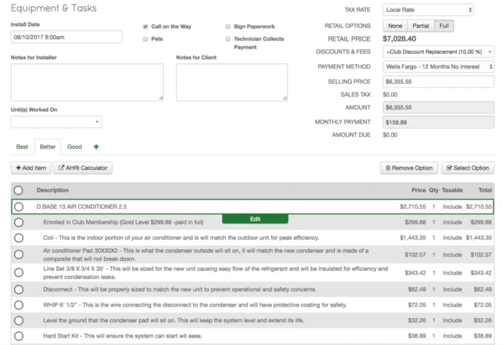 ThermoGRID HVAC Software For Invoicing, Bidding & Scheduling Screenshot