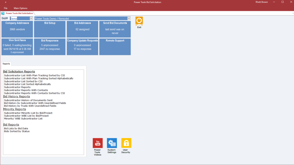 Online Construction Project Management Software Screenshot