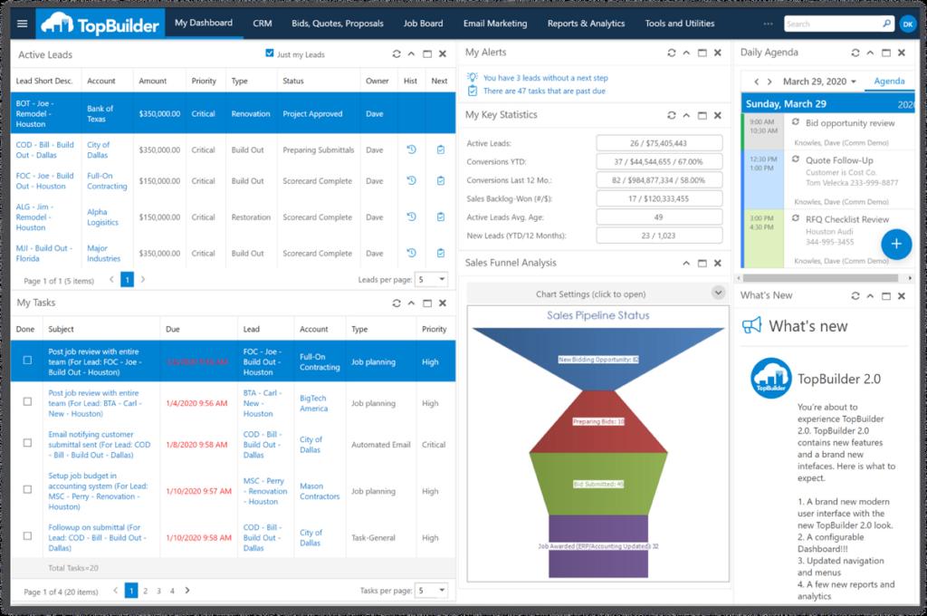 TopBuilder Online Construction Project Management Software Screenshot